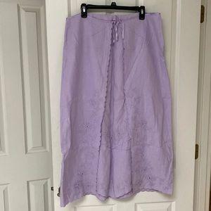 J Jill Lilac Skirt Size 16
